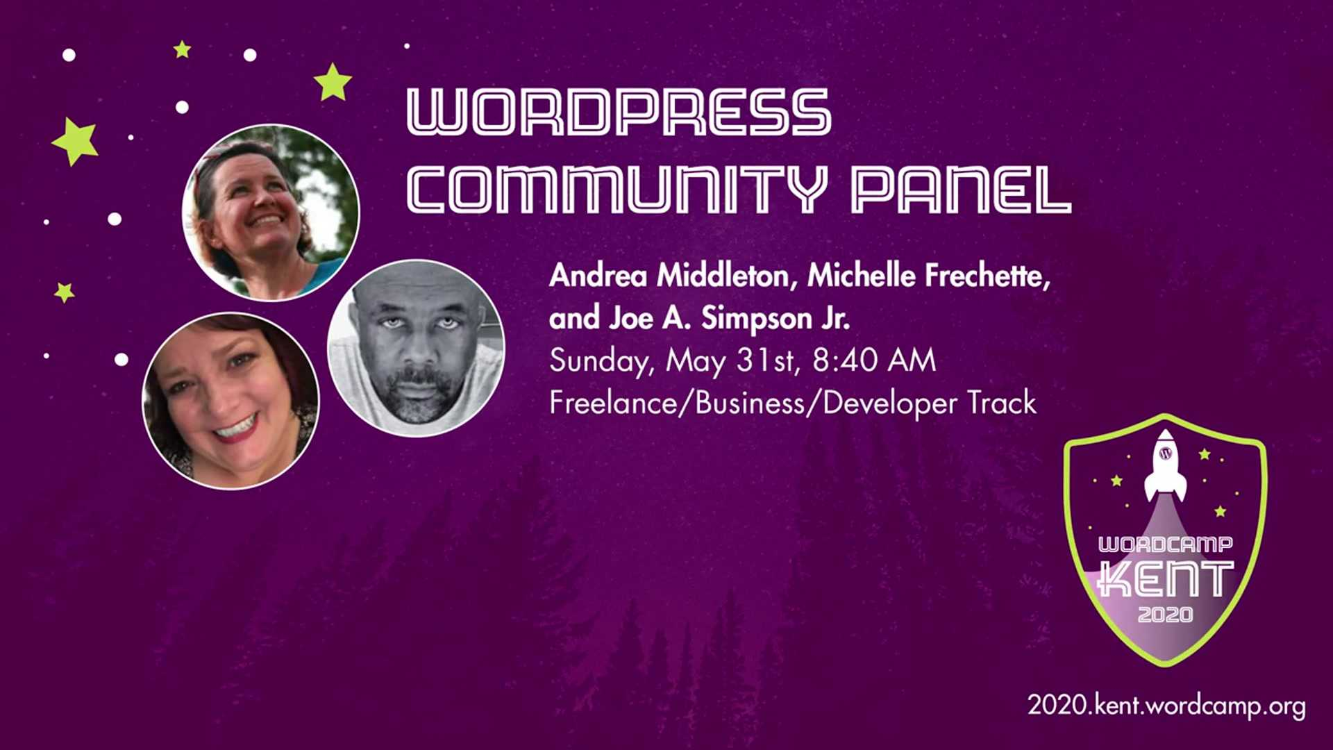 Andrea Middleton, Michelle Frechette, Joe A. Simpson Jr.: WordCamp Kent 2020 Community Panel