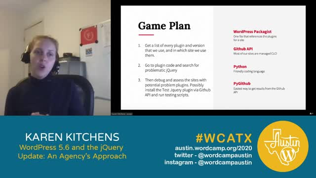 Karen Kitchens: WordPress 5.6 and the jQuery Update: An Agency's Approach