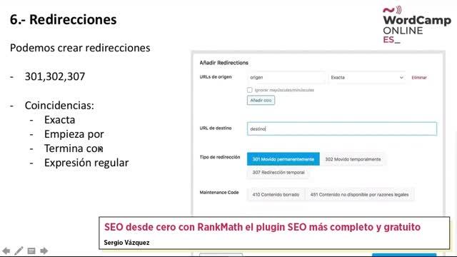 Sergio Vazquez: SEO desde cero con RankMath el plugin SEO más completo y gratuito