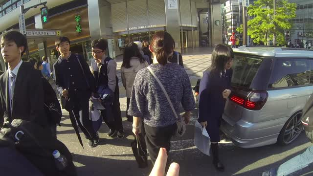 Get Close, Fill the Frame in Street Photography GoPRO POV Kyoto Station