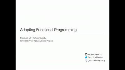 Adopting functional programming