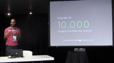 Joe Howard: Scaling to 10,000 Unique Visitors / Month