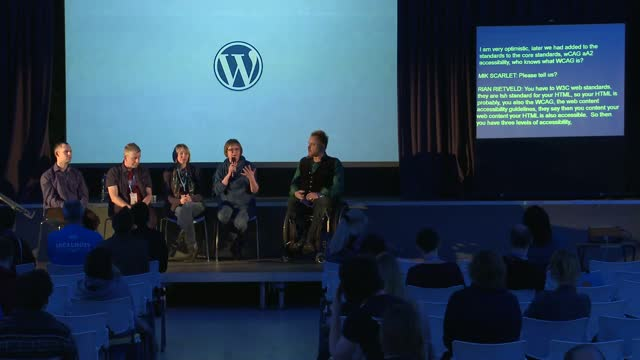 Mik Scarlet, Richard Senior, Gary Jones, Angie Vale, Rian Rietveld: Panel – Accessibility Q&A