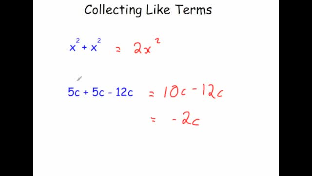 Collecting Like Terms – Video 9 | Corbettmaths