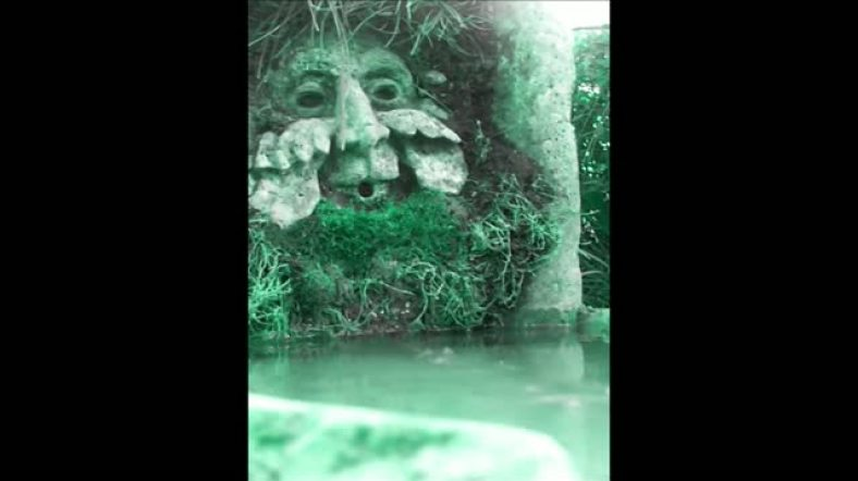 Video. Green Man Solar Fountain 2013 09 09