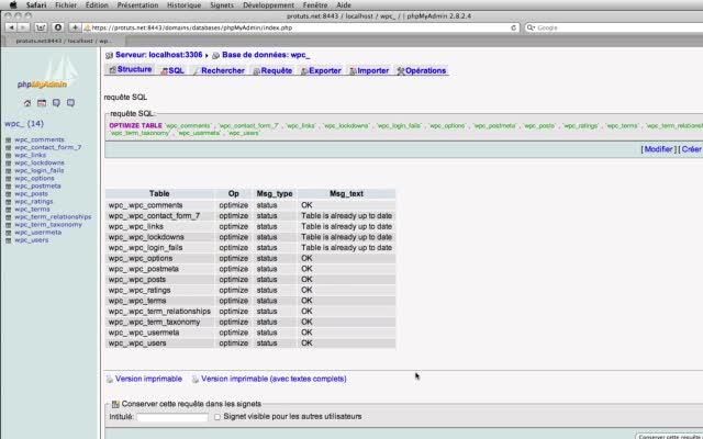 Optimiser la base de données MySQL de WordPress