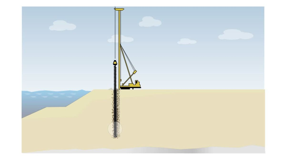 """Concrete Mixing Animation : Hardly a """"day at the beach building an underground"""