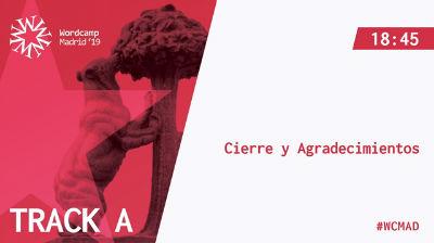 Cierre WordCamp Madrid 2019