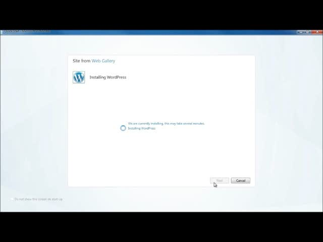 Install WordPress on a Windows Server Using WebMatrix
