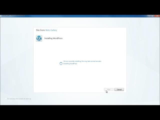 Install WordPress on a Windows Server Using WebMatrix