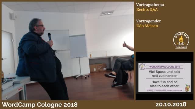 Udo Meisen: Rechts-Q&A für Website-Betreiber und Webworker