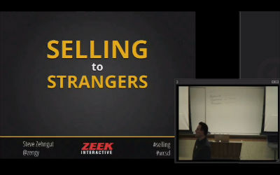 Steve Zehngut: You Need To Learn To Sell To Strangers