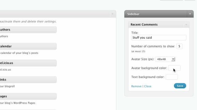 The Recent Comments Widget for WordPress.com
