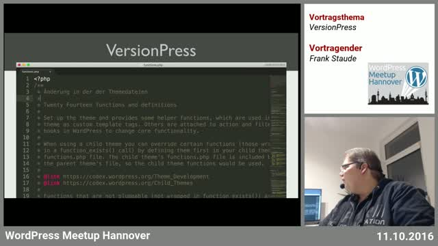 Frank Staude: VersionPress = WordPress + Git
