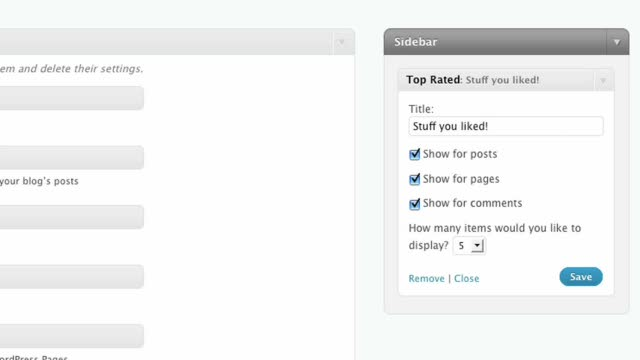 The Top Rated Widget for WordPress.com