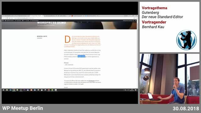 Bernhard Kau: Gutenberg – Der neue Standard-Editor in WordPress 5.0