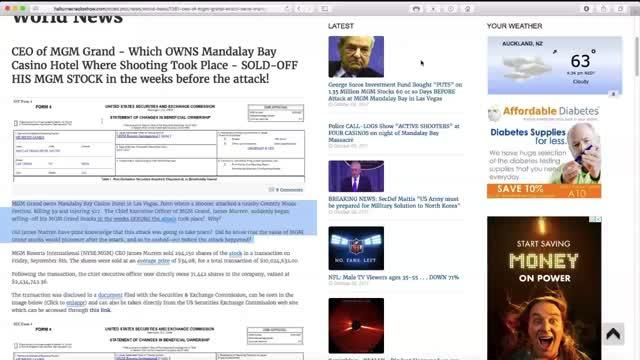 Vegas Shooting-Follow the Money Trail -Censorship and Secret Societies