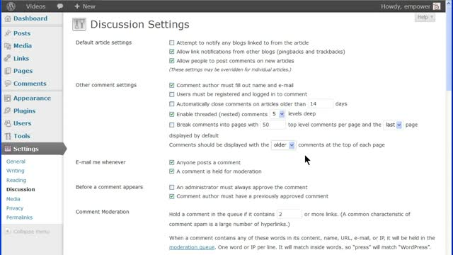 WordPress Discussion