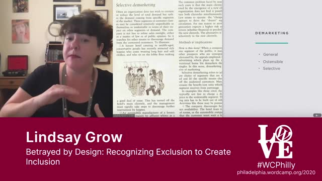 Lindsay Grow: Betrayed by Design - Recognizing Exclusion to Create Inclusion