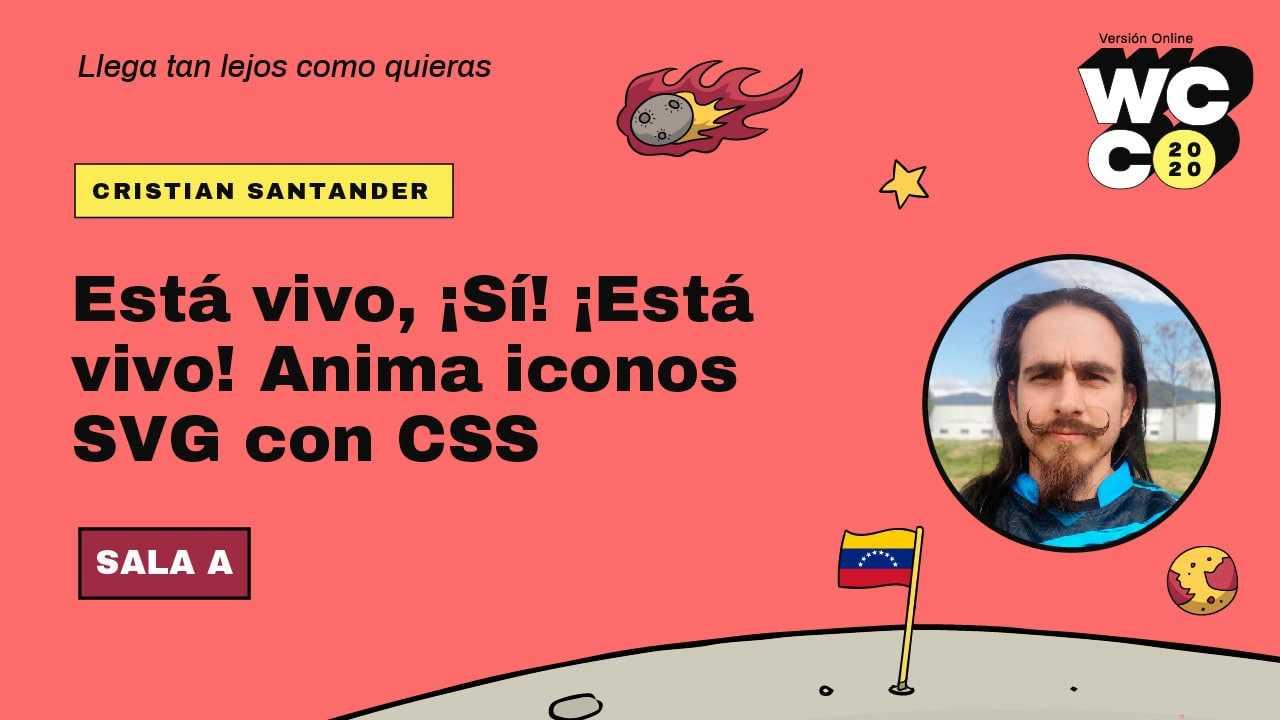 Cristian Santander: Está vivo, ¡sí, está vivo! anima iconos SVG con CSS