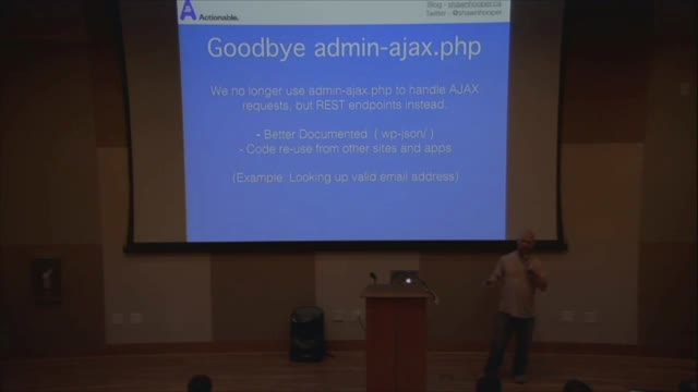 Shawn Hooper: REST API Case Study - Actionable.co