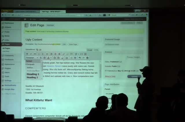 Mark Root-Wiley and Christine Winckler: WYSI-WHA!?! Taming the WordPress Editor