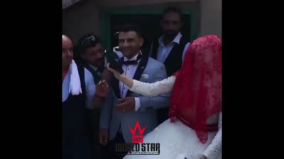 The Most Gangsta Wedding Ever: Wedding Guests Bust Shots To Celebrate & It Ain't Liquor!