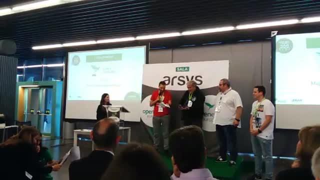 Open Award 2018 a Mejor Comunidad Tecnológica para @wp_es