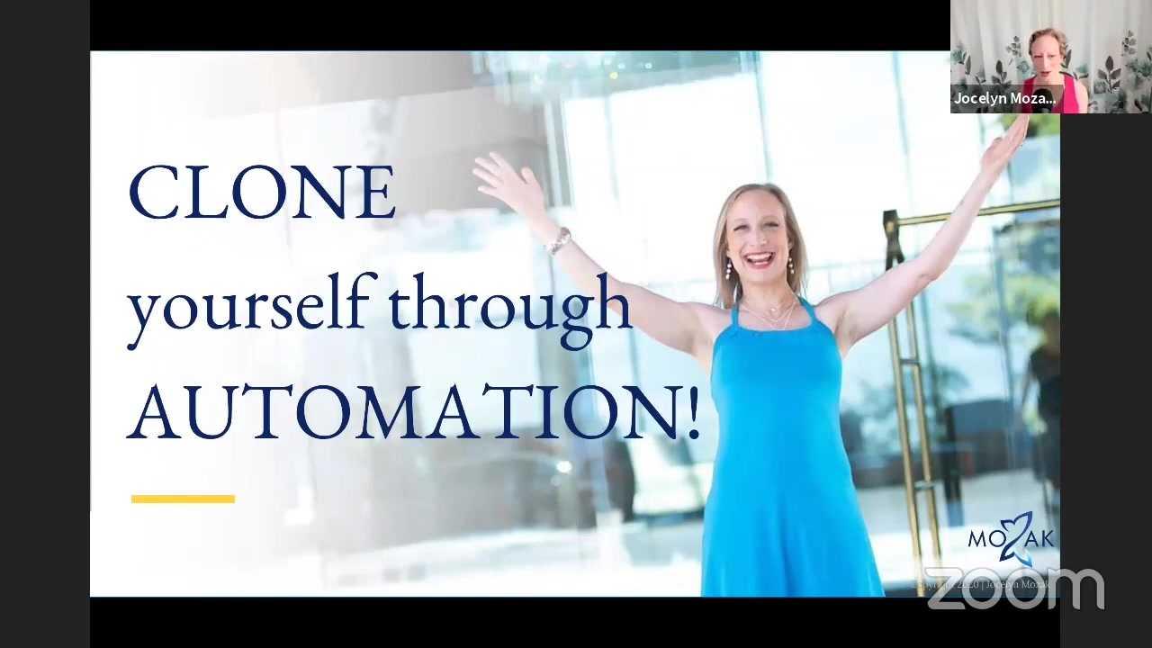 Jocelyn Mozak: Clone Yourself Through Automation