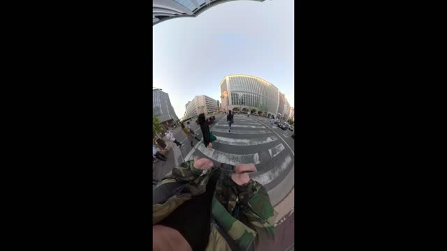 INNOVATIVE NEW GOPRO STREET PHOTOGRAPHY POV: Cutoff Technique, Shooting Head-On, Flash, on 28mm