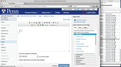 Spotlight on: Canvas Math Editor   Canvas at Penn
