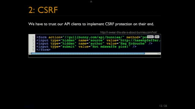 Michael Adams: Securing cookie-authenticated JSON apis