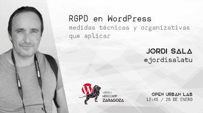 Jordi Sala: RGPD en WordPress