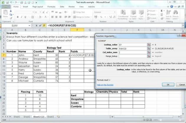 how to use vlookup table array