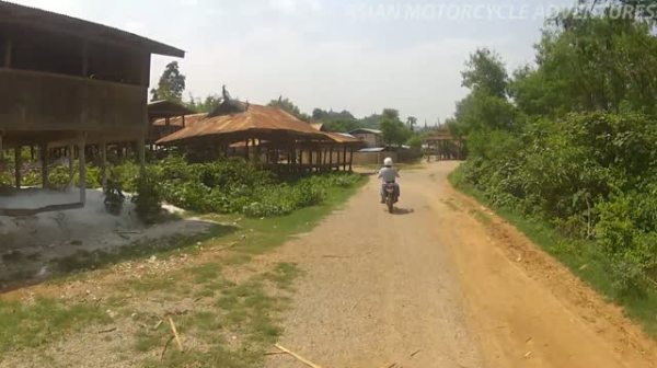 Motorcycle Ride Through the Inle Lake Region in Burma.