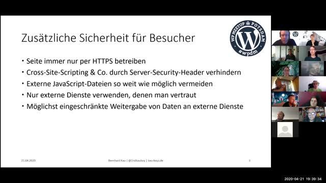 Fast alles zum Thema WordPress Sicherheit