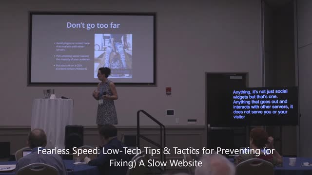 Teresa Rosche OTT : Fearless Speed: Low-Tech Tips & Tactics for Preventing (or Fixing) A Slow Website