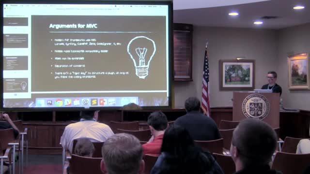 Nate Allen: Developing WordPress Plugins Using the MVC Methodology