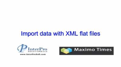 screencast import data with xml flat files interpro solutions