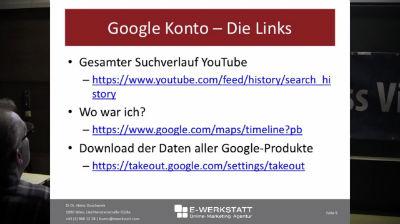 Heinz Duschanek: Google Tools und Services