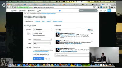 Sarah Wefald: Twitter Integration With WordPress