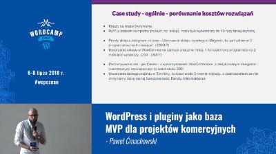 Paweł Ćmachowski: WordPress i pluginy jako baza MVP dla projektów komercyjnych