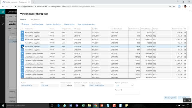 Vendor payments | Dynamics 365FO/AX Finance & Controlling