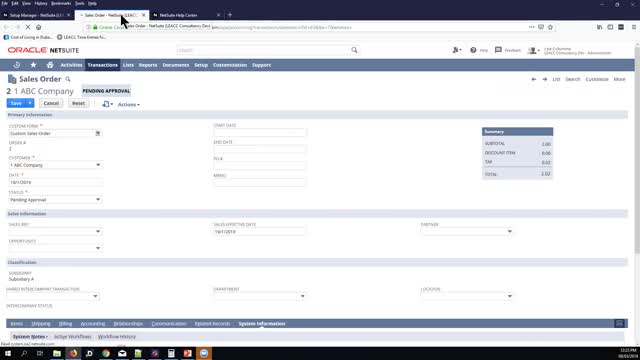 NetSuite Administration Demo: Enabling the Team Selling