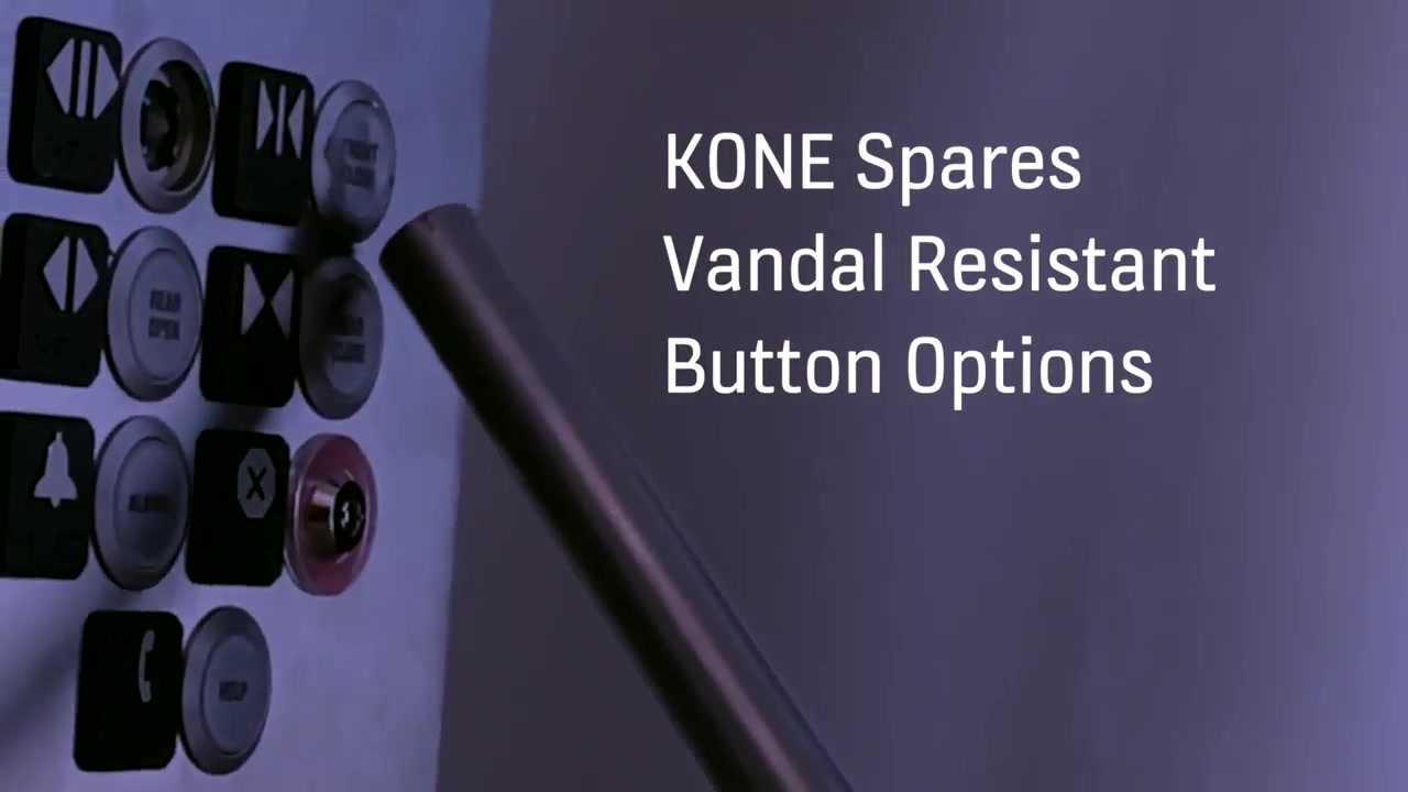 Vandal Resistant Elevator Button KIT – KONE Spares USA Elevator and