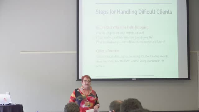 Kathy Drewien: Steps for Dealing with Difficult Clients