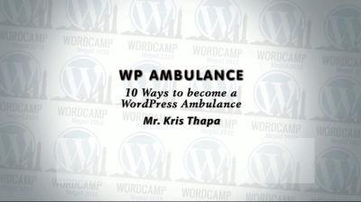 Kris Thapa: WP Ambulance