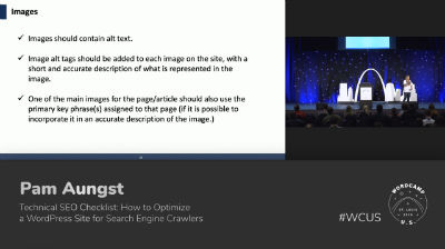 105 – Technical SEO Checklist- How to Optimize a WordPress Site for Search Engine Crawlers – Pam Aungst – WPTV.mp4