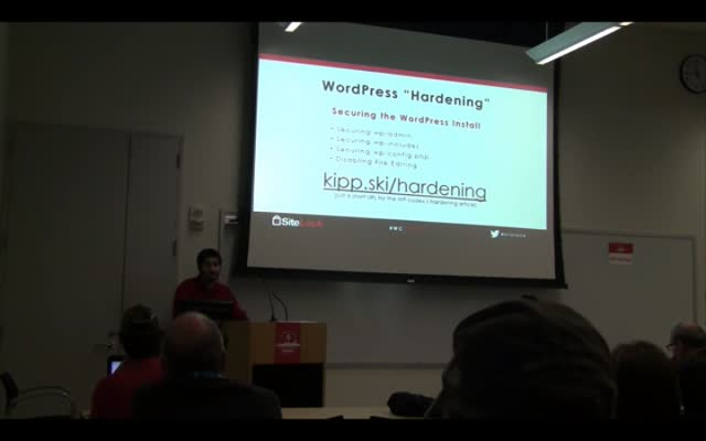 Logan Kipp: WordPress Security - Plugins and Beyond!