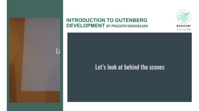 Prasath Nadarajah: Introduction to Gutenberg Development